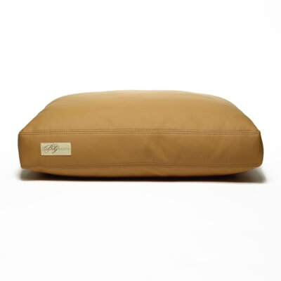 Faux Leather Foam and Faux Down Cushion Dog Bed Size: Small (18 L x 24 W)
