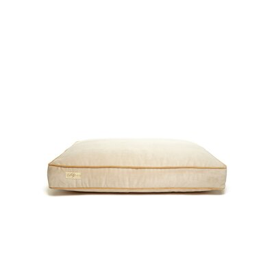 Microsuede Foam and Faux Down Cushion Dog Bed Size: Large (26 L x 34 W), Color: Luxe Buckwheat/Honey