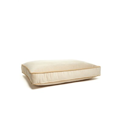 Microsuede Foam and Faux Down Cushion Dog Bed Size: Small (18 L x 24 W), Color: Luxe Honey/Buckwheat