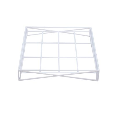 Wire Dog Bed Base Size: X-Large (36.5 L x 44.5 W), Color: White