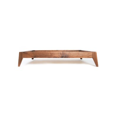 Wood Dog Bed Base Size: Small (21.25 L x 27.25 W), Color: Walnut Wood