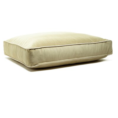 Microsuede Eco Friendly Polyester Fill Cushion Dog Bed Size: Small (18 L x 24 W), Color: Luxe Lichen/Buckwheat