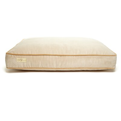 Microsuede Faux Down Cushion Dog Bed Size: Large (26 L x 34 W), Color: Luxe Buckwheat/Honey