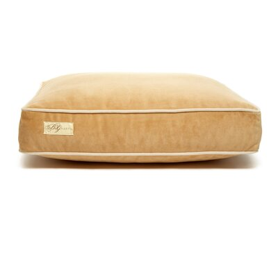 Microsuede Faux Down Cushion Dog Bed Size: Small (18 L x 24 W), Color: Luxe Honey/Buckwheat