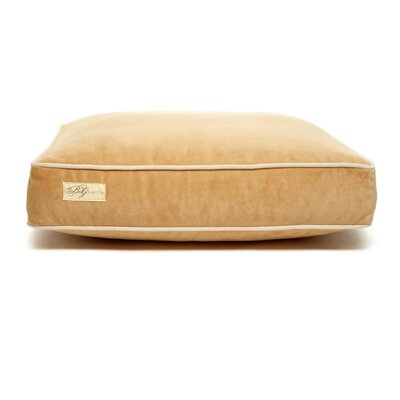 Microsuede Eco Friendly Polyester Fill Cushion Dog Bed Size: Small (18 L x 24 W), Color: Luxe Honey/Buckwheat