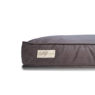 Microsuede Faux Down Cushion Dog Bed Pillow Size: Large (26 W x 34 D x 5 H)