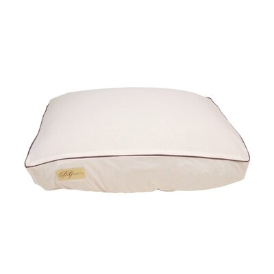 Standard Piping Fitted Linen Bed Cover Size: Small (7 H x 18 W x 24 L)