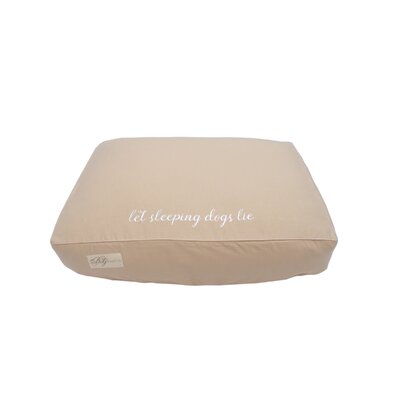 Let Sleeping Dogs Lie Cotton Fitted Bed Cover Size: Large (7 H x 26 W x 34 L)