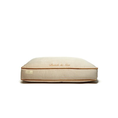 Microsuede Foam and Faux Down Cushion Dog Bed Size: Small (18 L x 24 W)