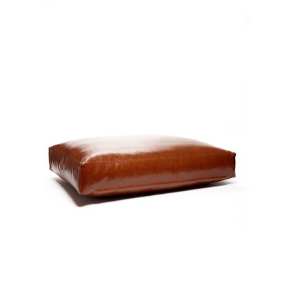 Faux Leather and Faux Down Cushion Dog Bed Size: X-Large (34 L x 42 W)
