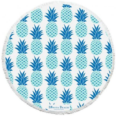 The Maui Pineapple Roundie Beach Towel