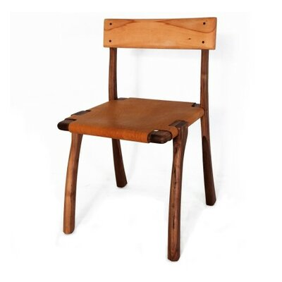 Mardin Genuine Leather Upholstered Dining Chair Upholstery: Honey