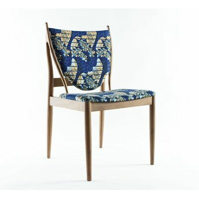 Malin Side Chair Upholstery: Blue / Cream