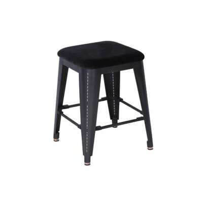 Cafe 18 Bar Stool with Cushion Upholstery: Leather - Olive