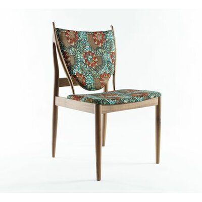 Malin Side Chair Upholstery: Green / Orange Flower