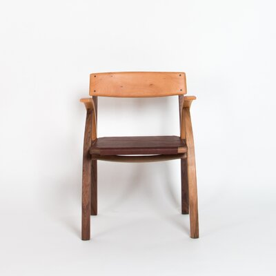 Aksel Genuine Leather Upholstered Dining Chair