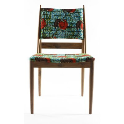 Eilif Side Chair Upholstery: Green Snail Print