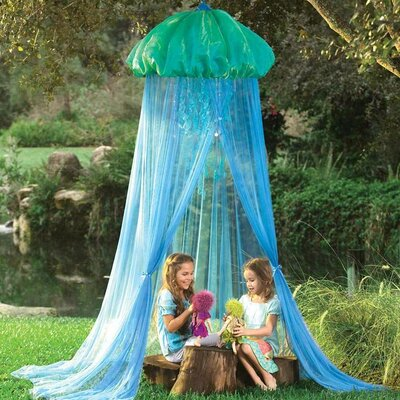 Goering Glow Jellyfish Sparkling Hideaway Bed Canopy for Kids