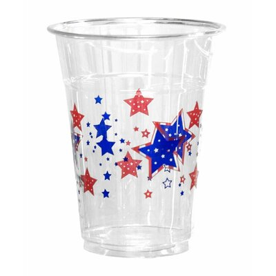 Patriotic Stars 16 oz. Disposable Plastic Everyday Party Cup NW-N165050