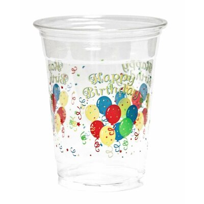 Happy Birthday 16 oz. Plastic Everday Cup KO-521