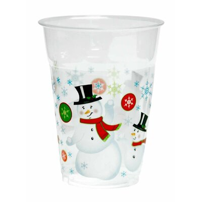 Snowman 16 oz. Plastic Everday Cup KO-522
