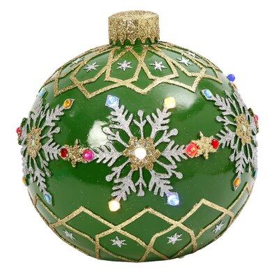 Electric Ball Ornament Color: Green 2357970EC