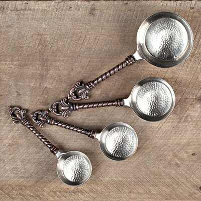 4 Pieces Stainless Steel and Lead-Free Brass Measuring Spoon Set 91436