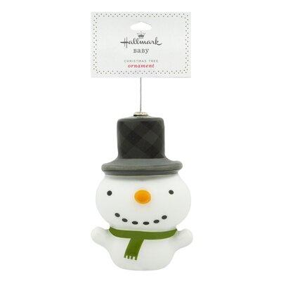 Decoupage Snowman Christmas Hanging Ornament