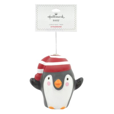 Decoupage Penguin Christmas Hanging Ornament