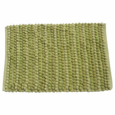 Pebbles Bath Rug Color: Green