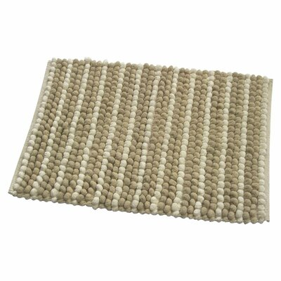Pebbles Bath Rug Color: Beige
