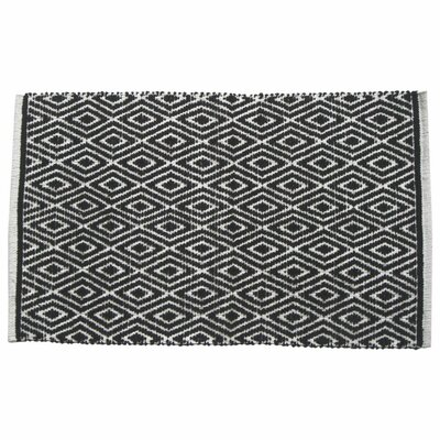 Diamond Doormat Color: Black