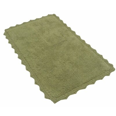 Crochete Bath Rug Color: Sage Green