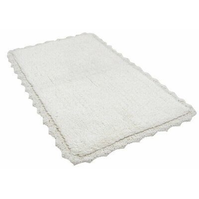 Crochete Bath Rug Color: White