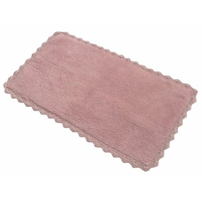 Crochete Bath Rug Color: Pink