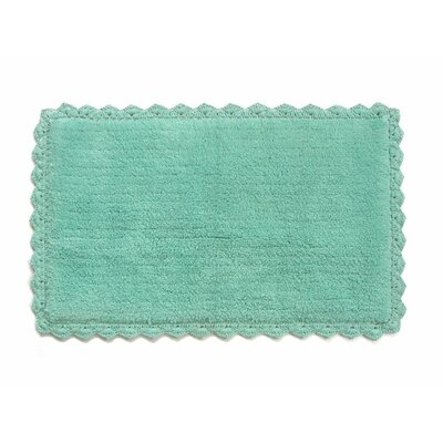 Crochete Bath Rug Color: Aqua Blue
