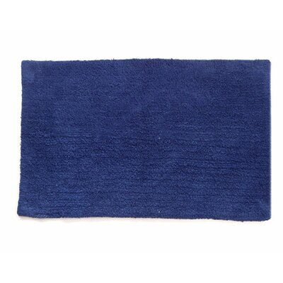 Canton Reversible Bath Rug Color: Navy Blue