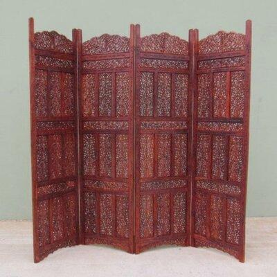 "71"" x 80"" Kashmiri 4 Panel Wooden Screen Room Divider NAU-SH1582"