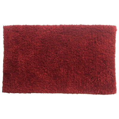 Bliss Bath Rug Color: Red