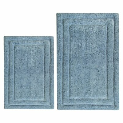Classic 2 Piece Bath Rug Set Color: Blue
