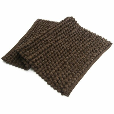 Pebbles Plush Bath Rug Color: Brown
