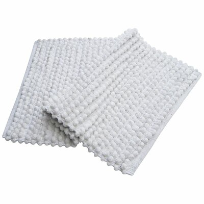 Pebbles Plush Bath Rug Color: White