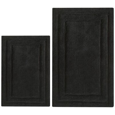 Classic 2 Piece Bath Rug Set Color: Black