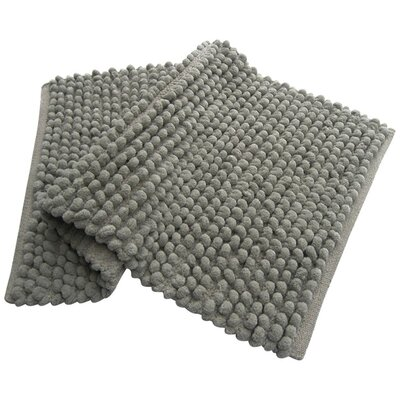 Pebbles Plush Bath Rug Color: Gray