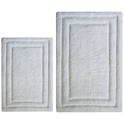 Classic 2 Piece Bath Rug Set Color: White