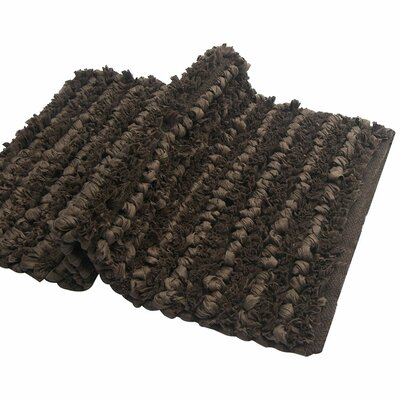 Shelby Paper Bath Rug Color: Brown