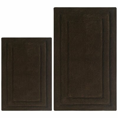Classic 2 Piece Bath Rug Set Color: Brown