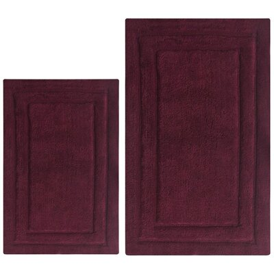 Classic 2 Piece Bath Rug Set Color: Burgundy