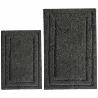 Classic 2 Piece Bath Rug Set Color: Gray