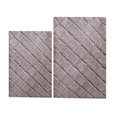 Impression 2 Piece Bath Rug Set Color: Gray